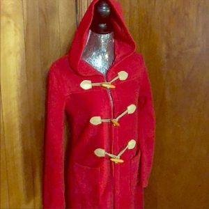 Long fleece hooded robe
